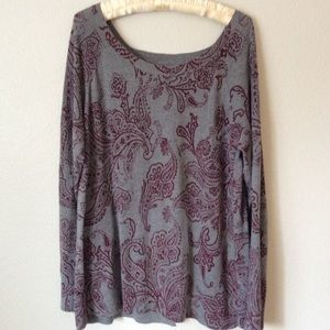 Lucky Brand Back Flap Sweater